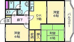 真田マンション[1階]の間取り