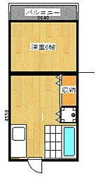 崎村ビル[203号室]の間取り