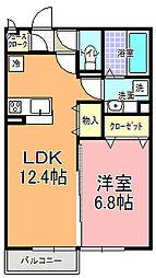仮)D−room平須町[202号室]の間取り