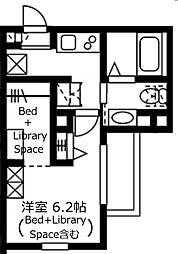 神奈川県川崎市幸区神明町1丁目の賃貸マンションの間取り