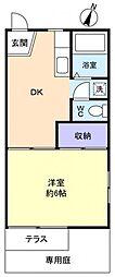 メゾン勝田台B棟[1階]の間取り