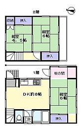 [一戸建] 埼玉県さいたま市中央区大戸1丁目 の賃貸【埼玉県 / さいたま市中央区】の間取り
