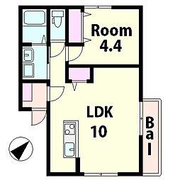 仮称)水口町山新築アパート[1階]の間取り