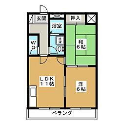 フラワーパレスマンシヨン[3階]の間取り