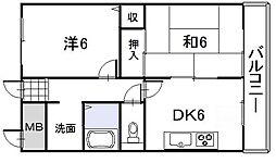 アジサイマンション[3階]の間取り