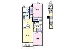 メゾン・ソレイユIIA棟[2階]の間取り