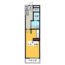 メゾン・ド・オ−シマ1[2階]の間取り