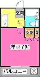 EXCEED所沢(エクシード所沢)[3階]の間取り