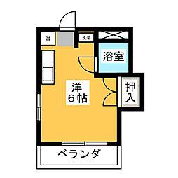 時計荘[3階]の間取り