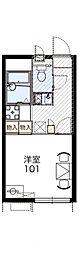 千葉県千葉市花見川区横戸町の賃貸アパートの間取り