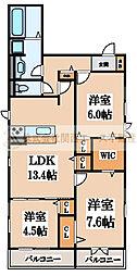 D-room北三国ヶ丘8丁[3階]の間取り