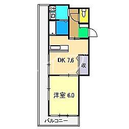 北添マンション[2階]の間取り