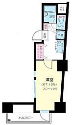 東京都新宿区市谷柳町の賃貸マンションの間取り