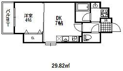 クリエイトビュー三宮磯上公園[2階]の間取り