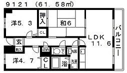 ハイグレード高井田[706号室号室]の間取り