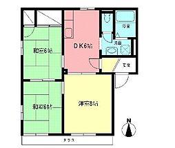 ドミール茅ヶ崎[1階]の間取り