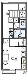 レオパレスオークヒルズC[2階]の間取り