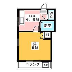 サンシャインキャッスル[2階]の間取り