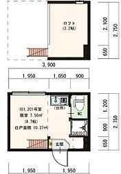 (仮称)豊島デザイナーズ賃貸コーポ[101号室]の間取り