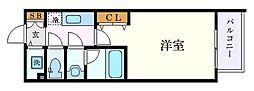 名古屋市営名城線 東別院駅 徒歩9分の賃貸マンション 13階1Kの間取り