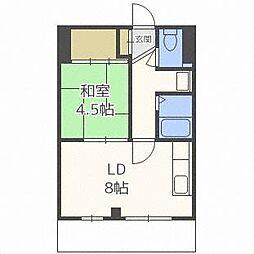 21タイガーズマンション[2階]の間取り