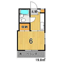 セブンスパークアパートメント[607号室]の間取り