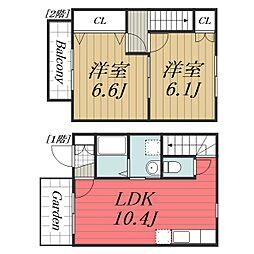 [タウンハウス] 千葉県富里市御料 の賃貸【/】の間取り
