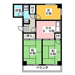 シエモアヤトミ[3階]の間取り