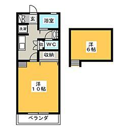 KGハイツII[2階]の間取り
