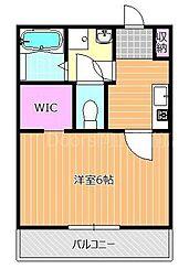 JR山陽本線 岡山駅 徒歩25分の賃貸アパート 1階1Kの間取り