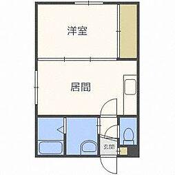 ジュネス東札幌[3階]の間取り