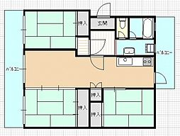 井口鈴が台アパート[3階]の間取り