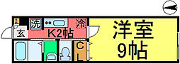 ハイツアヅミノ[102号室]の間取り