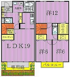 [テラスハウス] 千葉県流山市松ケ丘5丁目 の賃貸【/】の間取り