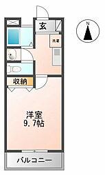 マンション大洋2[B−7号室 号室]の間取り