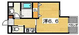 ハッピーアウル[2階]の間取り