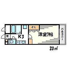 KT−9[3階]の間取り