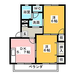 コモンシティ瀬名川G[1階]の間取り