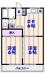 千葉県市川市二俣1丁目の賃貸アパートの間取り