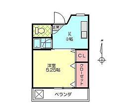 宮本ビル[303号室]の間取り