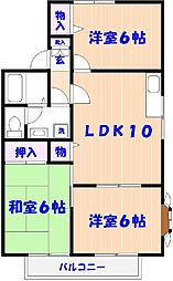 千葉県市川市須和田2丁目の賃貸アパートの間取り