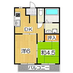 桃栄マンション[4A号室]の間取り