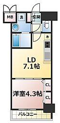 スプランディッド新大阪キャトル[13階]の間取り