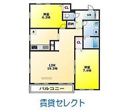 楓雅24[6階]の間取り