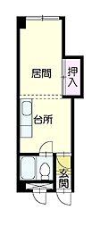 旭祥ハイツ[3階]の間取り