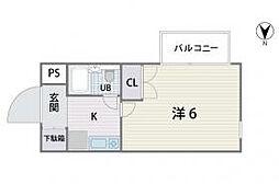 シティパレス平尾駅前P-5[401号室]の間取り