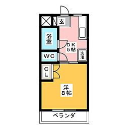 マンションリーフI[2階]の間取り