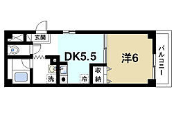 サニーコート西大寺[3階]の間取り