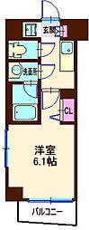 神奈川県横浜市神奈川区松本町2丁目の賃貸マンションの間取り