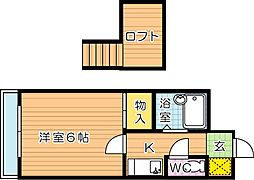 PLEAST医生ヶ丘(プレスト医生ヶ丘)[2階]の間取り